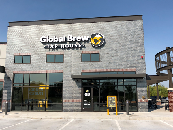 global brew tap house storefront